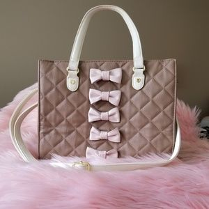 2pc Quilted Betsey Johnson Purse